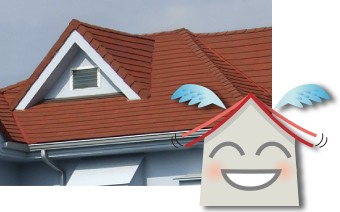 軽い屋根は地震に強い