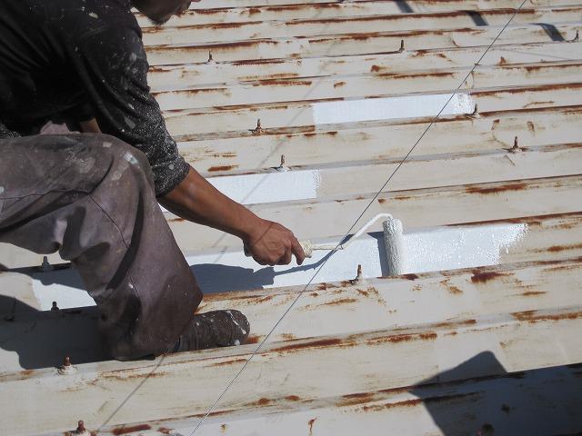 折半屋根さび止め