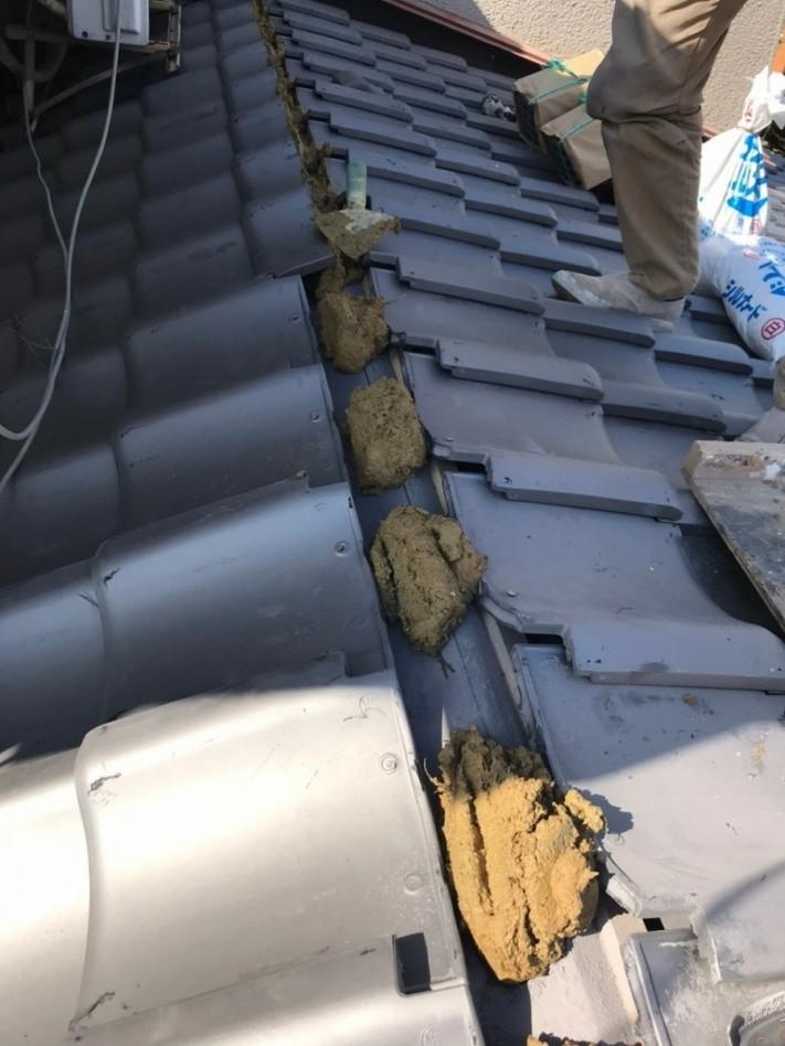 高さ調節の葺き土