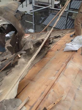 既存の垂木撤去