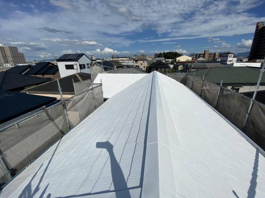 堺市北区にて、屋根の遮熱塗装をさせていただきました!