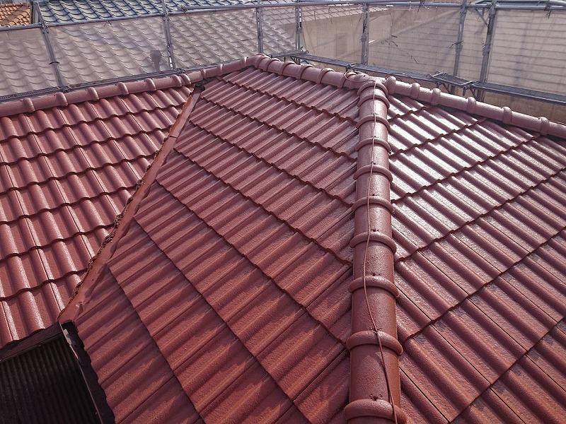 モニエル瓦屋根塗装完成