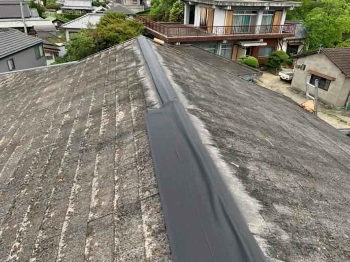 屋根棟応急措置3