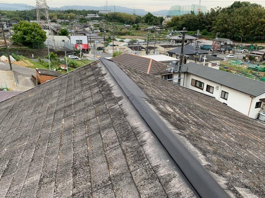 屋根棟応急措置1
