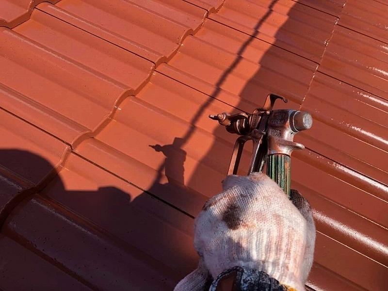 【屋根リフォームの工程】屋根の上塗り