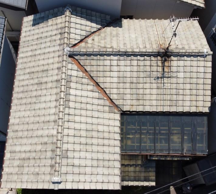 ドローンによる屋根全景