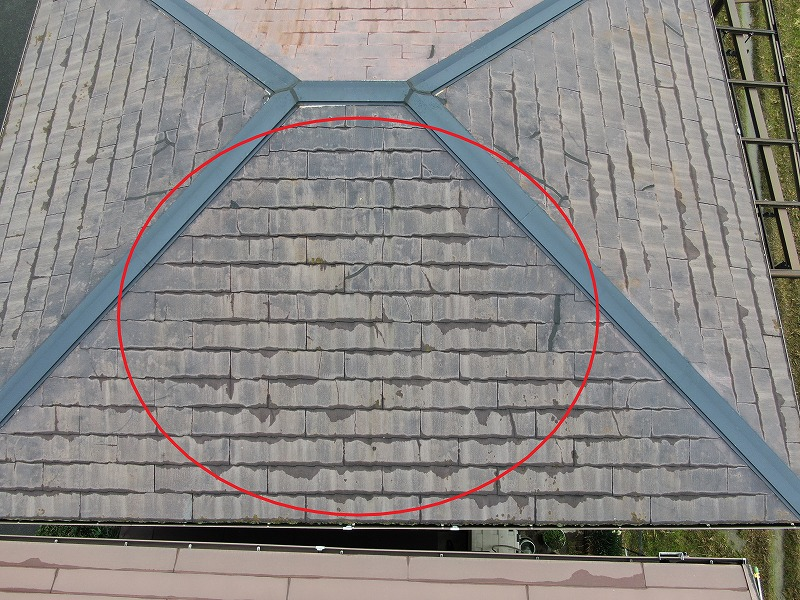 屋根表面の劣化・色褪せ