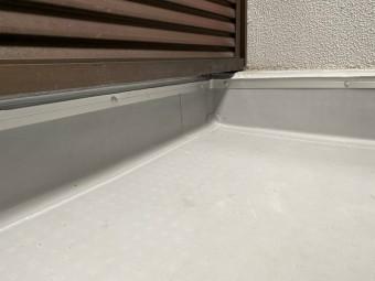 塩ビシート防水貼りつけ