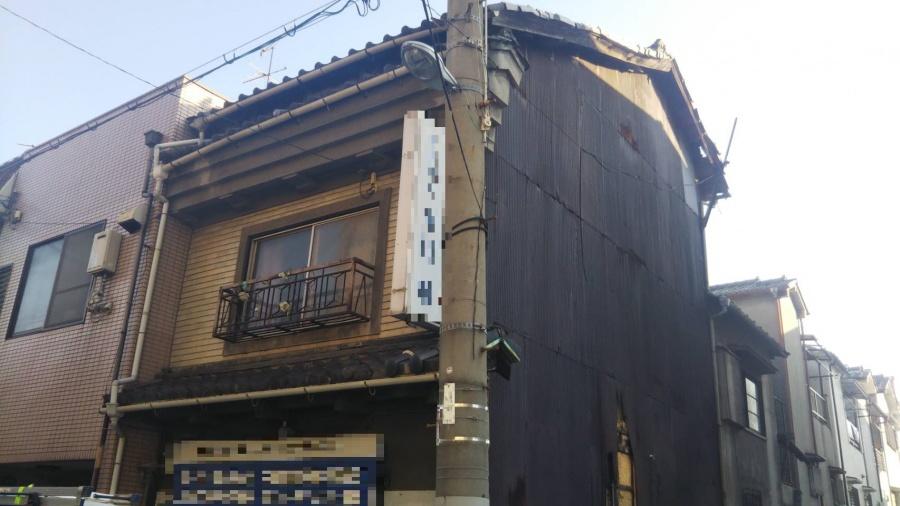 大阪市阿倍野区 築60年危険な状態の瓦屋根の応急処置のご依頼