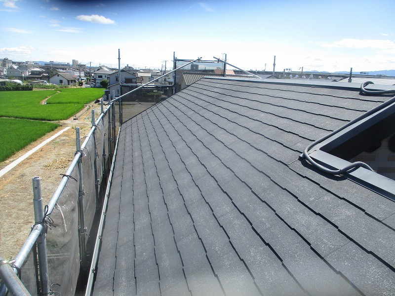 松原市 経年劣化した屋根!長持ちさせるために屋根塗装しました