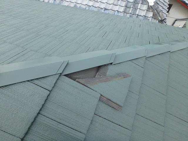 台風により被害の受けた屋根