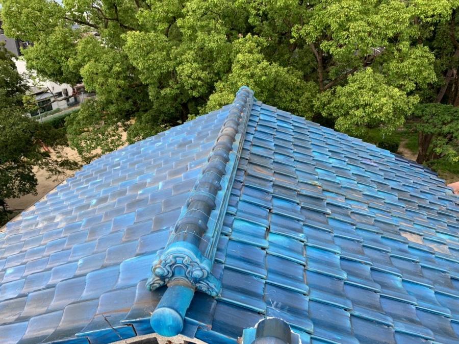屋根瓦補修完工
