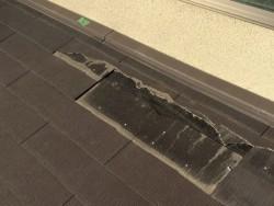 カラーベスト屋根の割れ