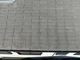 スレート屋根表面色褪せ