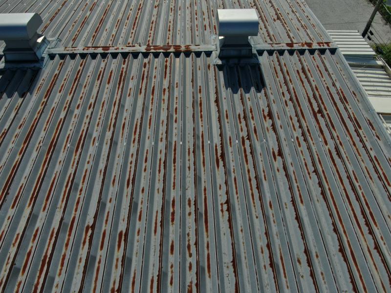 倉庫の屋根塗装