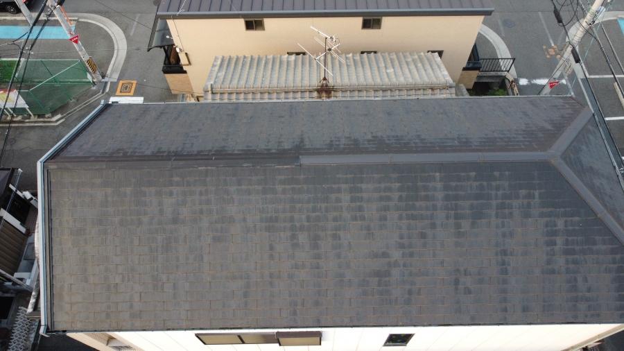 羽曳野市 築25年雨漏りに備えてスレート屋根の点検を実施