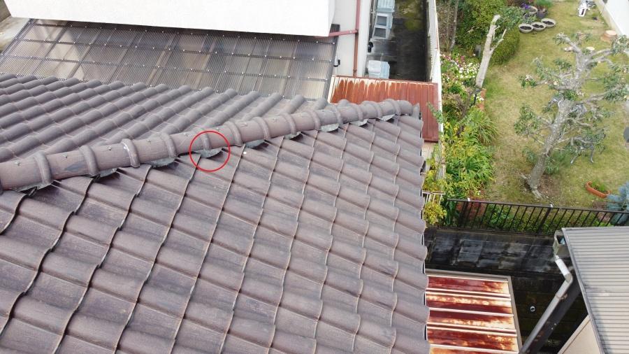 瓦屋根 漆喰の劣化