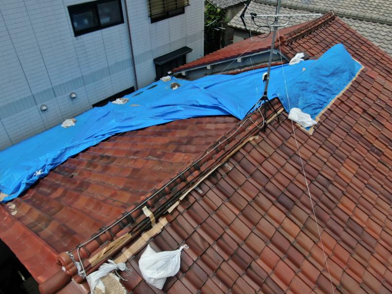 台風の強風で被害