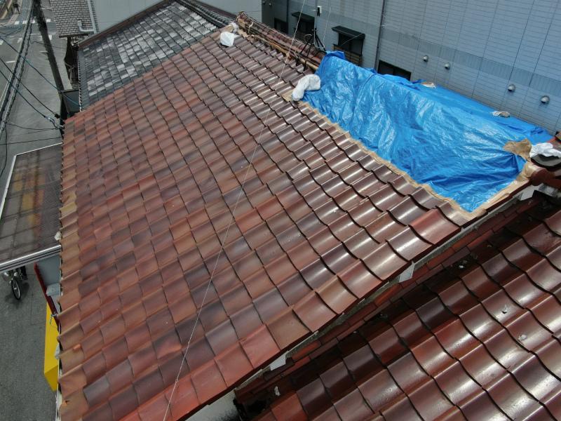 屋根のブルーシート