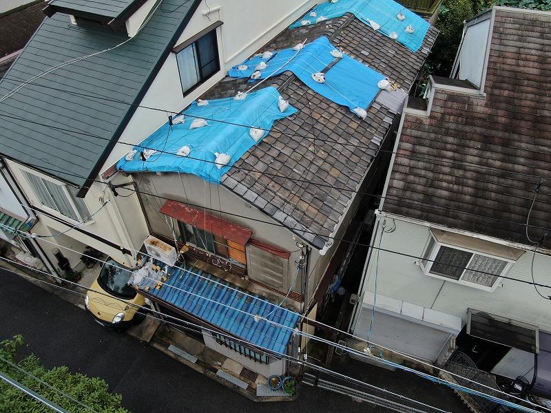 台風被害瓦破損
