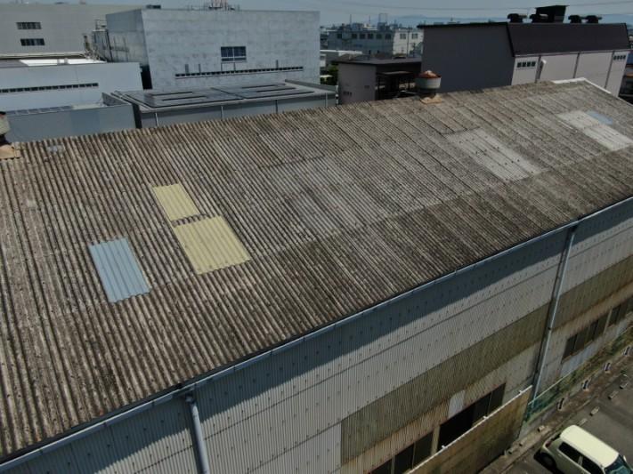 倉庫の屋根 カバー工法