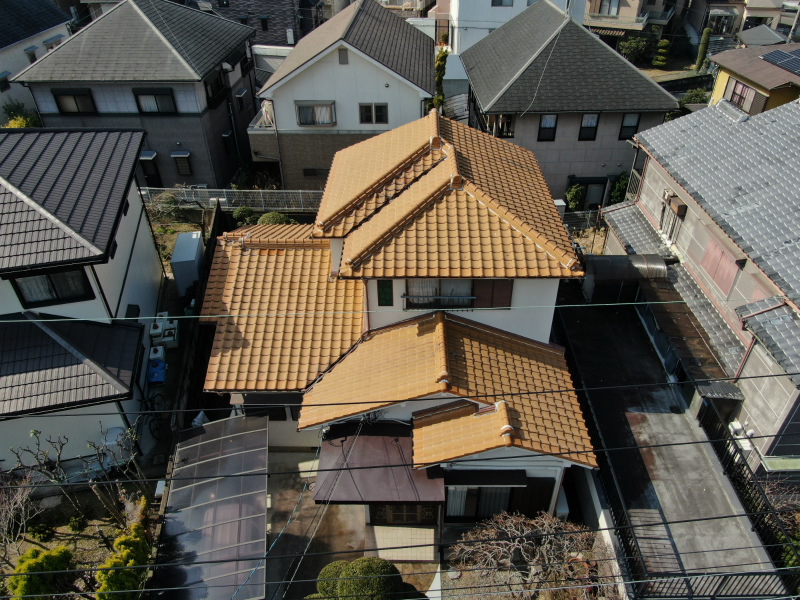 屋根工事の施工前