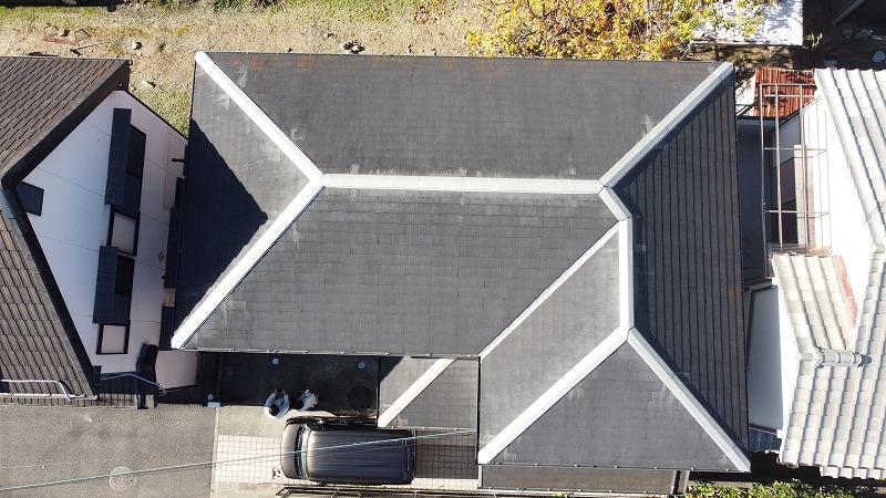 泉佐野屋根壁塗装2