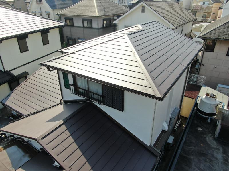 瓦から金属屋根への葺き替え