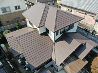 屋根の完成、ドローンにて