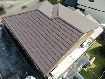 ドローンによる屋根工事の完成