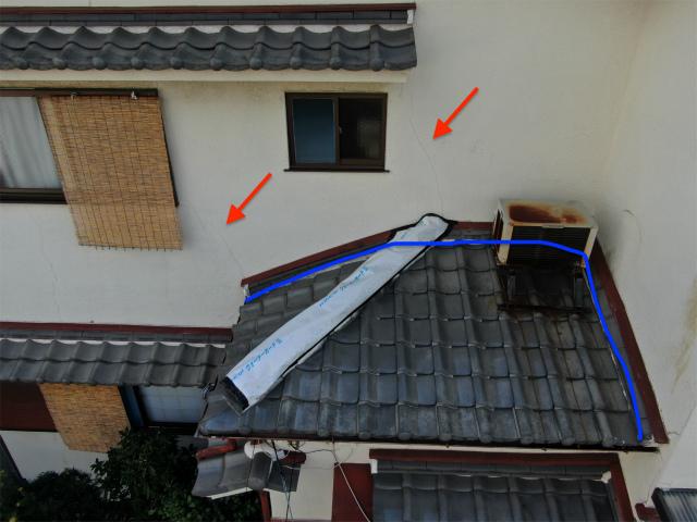 雨漏りの原因 壁のひび割れ