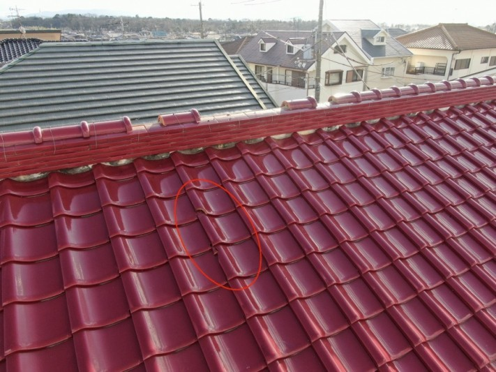 屋根の修理前