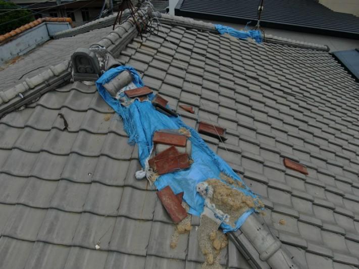 瓦の取り直し工事