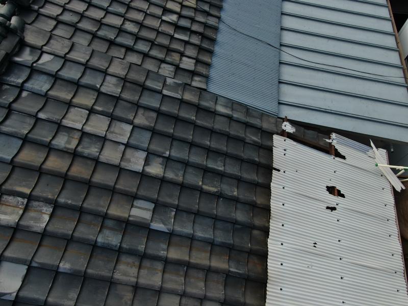 ベランダ屋根の被害