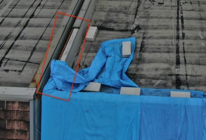 屋根板金の飛散