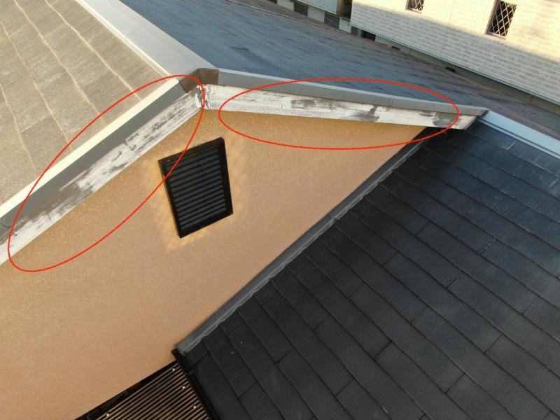 紫外線による破風板の劣化