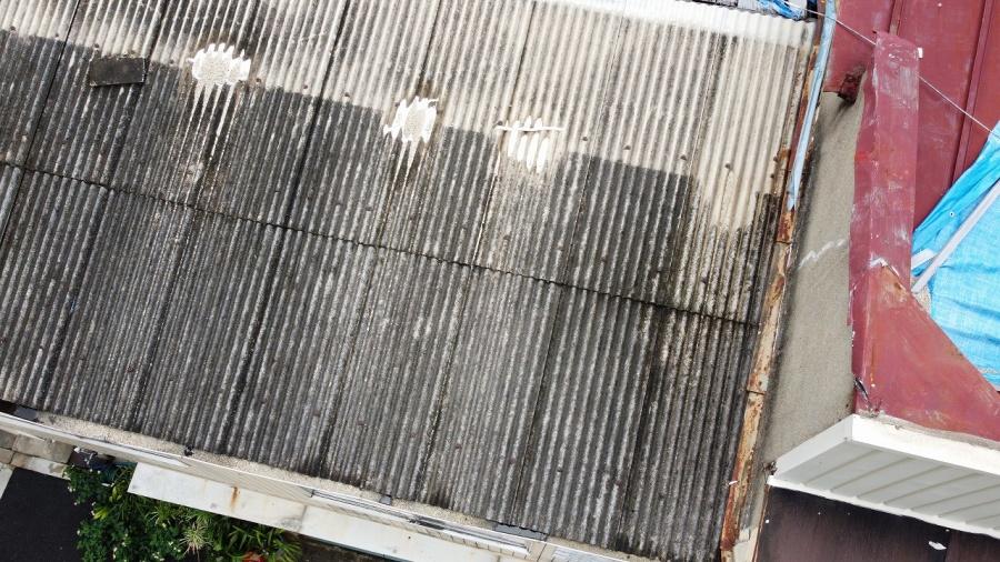 トタン屋根飛散
