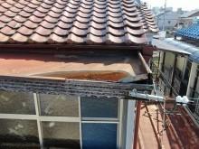 腐食した屋根庇
