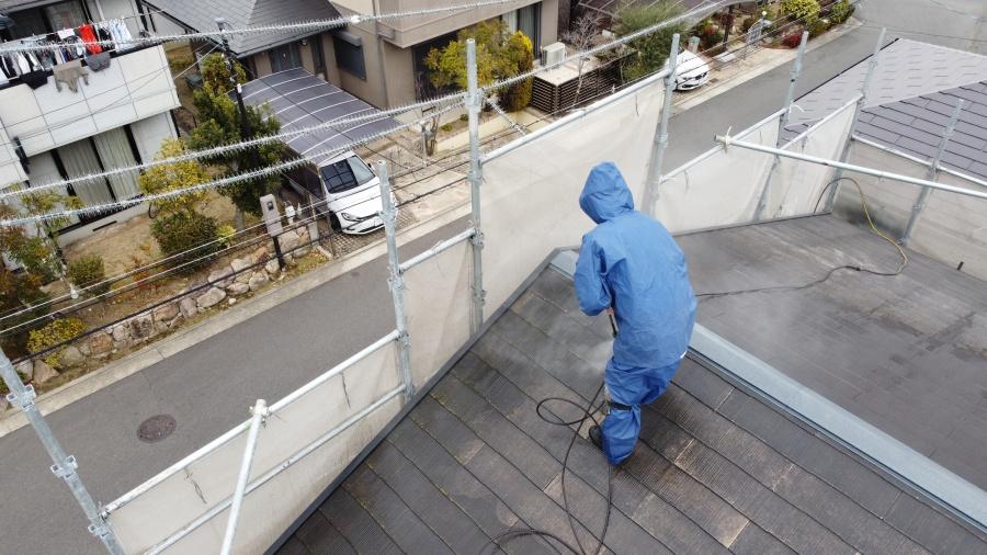 和泉屋根塗装2