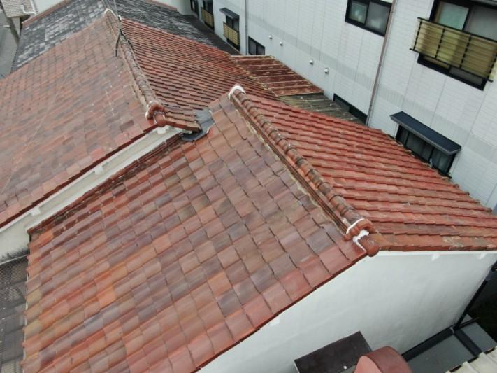 瓦屋根の補修工事