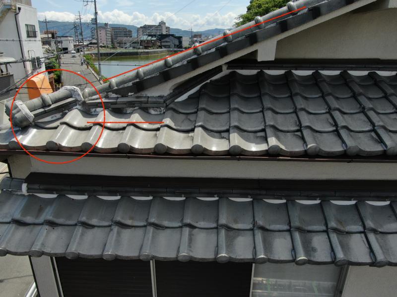 屋根瓦の被害