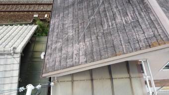 スレート屋根に錆が