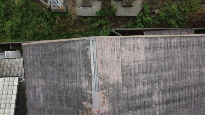 スレート屋根の色褪せ