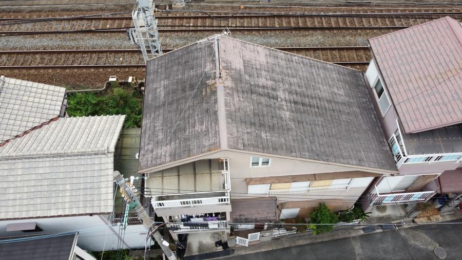 柏原市にて屋根リフォームのご依頼 カバー工法のご提案を!
