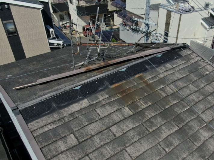 棟板金とカラーベストが被害