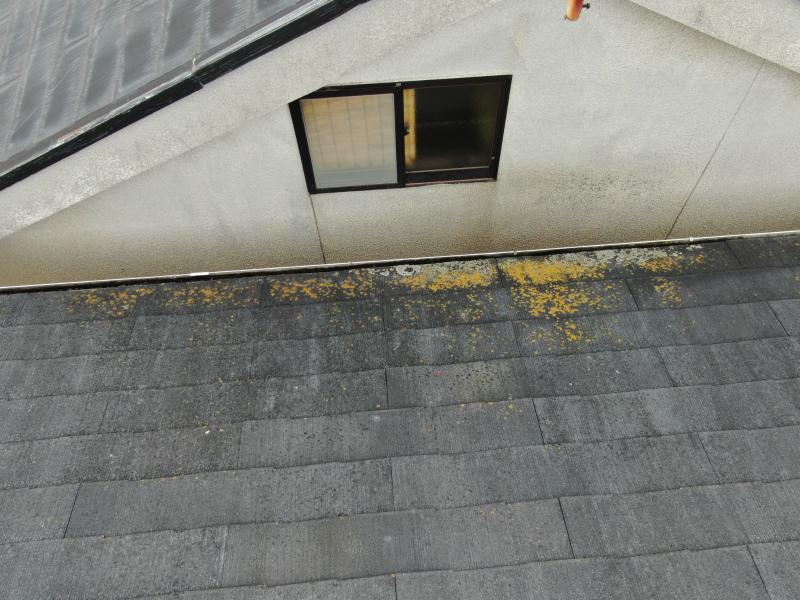 屋根先のカラーベストの劣化症状