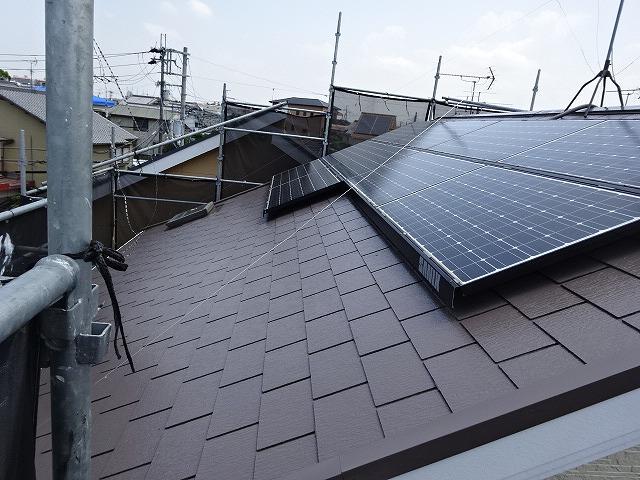 明るい色の屋根塗装例 アンバーブラウン