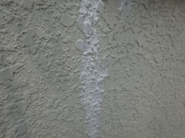 外壁ひび割れコーキング完了