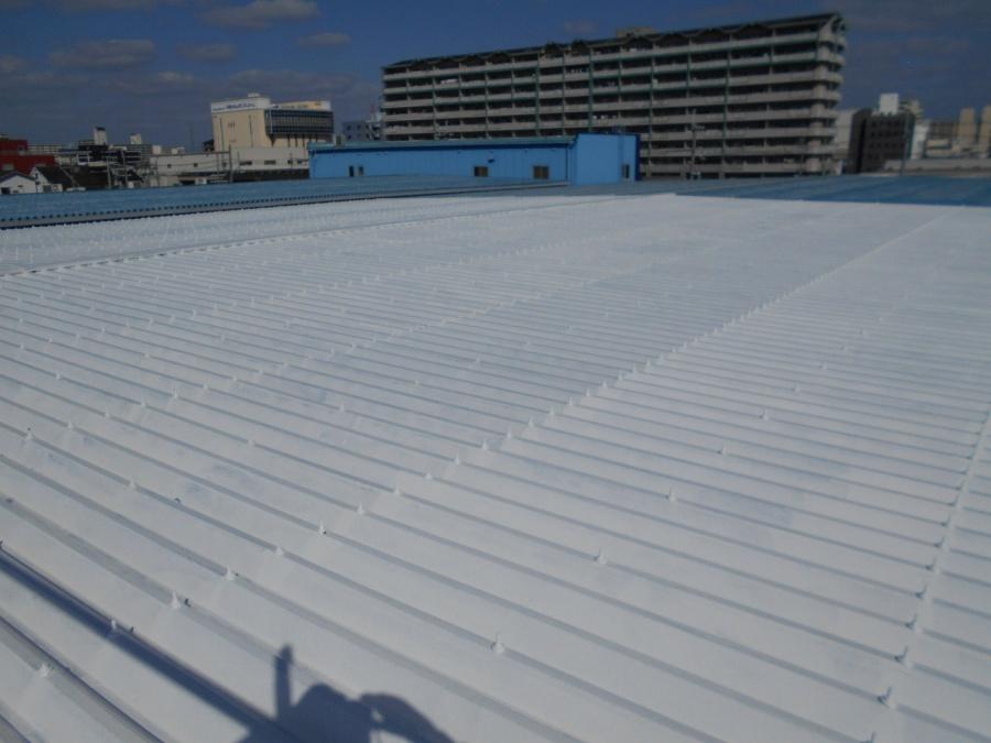 折板屋根塗装下塗り完成