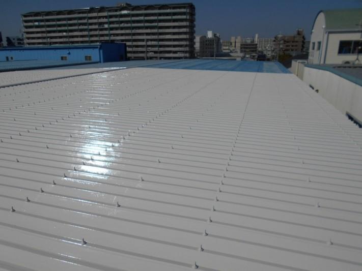 折板屋根塗装完了